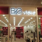 b&g store ışıklı tabela