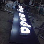 led ampul ışıklı reklam