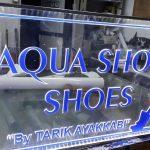 aqua shoes ,ayakkabıcı kapı başı tabelası ,ışıklı reklamı