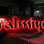palmiye crom harf led ışıklı