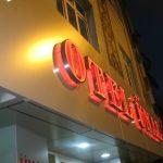 otel ünal ışıklı crom harf gece