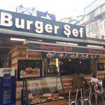 burger şef ışıklı reklam