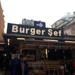 burger şef ışıklı reklam sirkeci