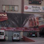 erşa kumaş mesh baskılı cephe reklamı
