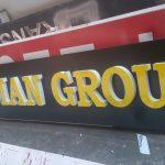 persian group le ışıklı kabarma harflı reklam
