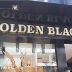 golden black sarı crom harf tabela