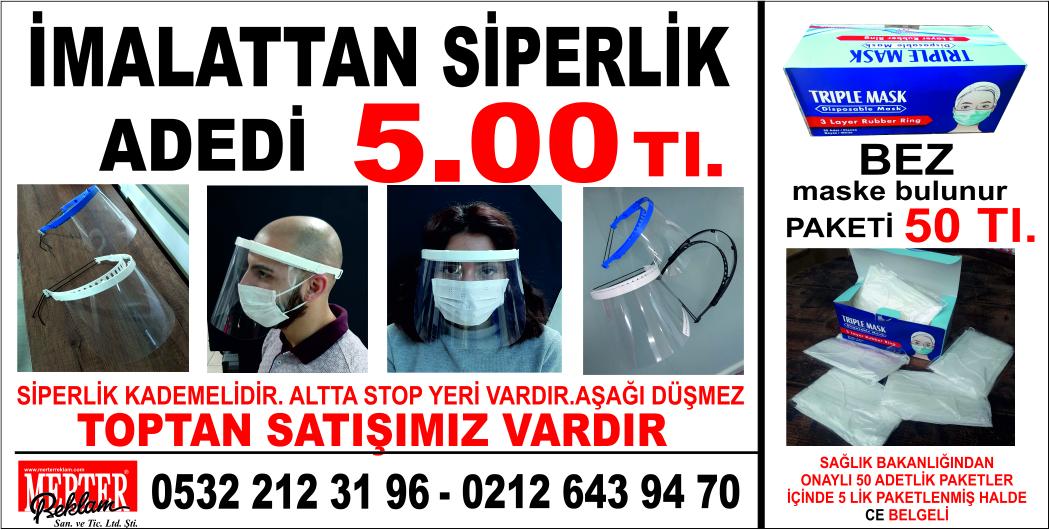 siperlikli maske